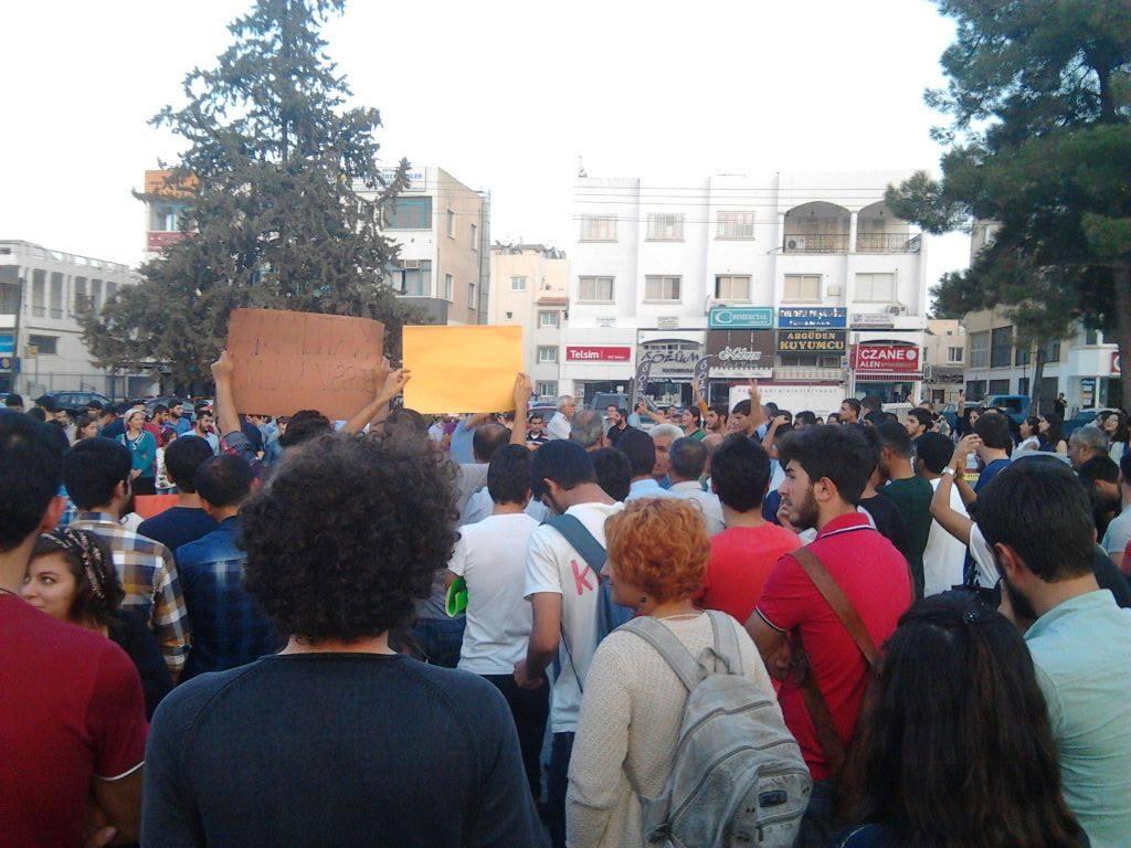 20141008 kibris kobane eylemi